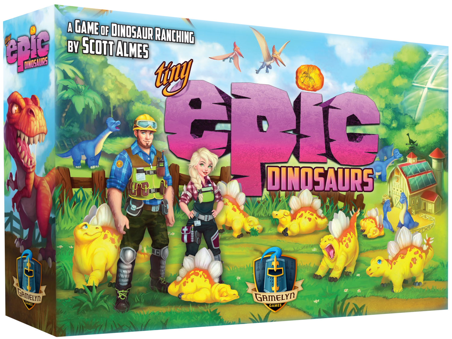 Tiny Epic Dinosaurs Deluxe - Gamelyn Games - More Fun Faster