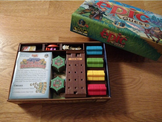 Tiny Epic Quest Boardgame Box Inserts
