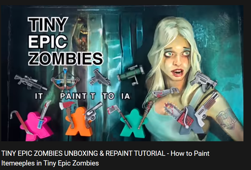 How to Paint your Tiny Epic Zombies ITEMeeples